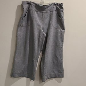 Lululemon still crops wide leg Heathered grey